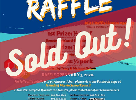 Our Online Raffle has SOLD OUT!
