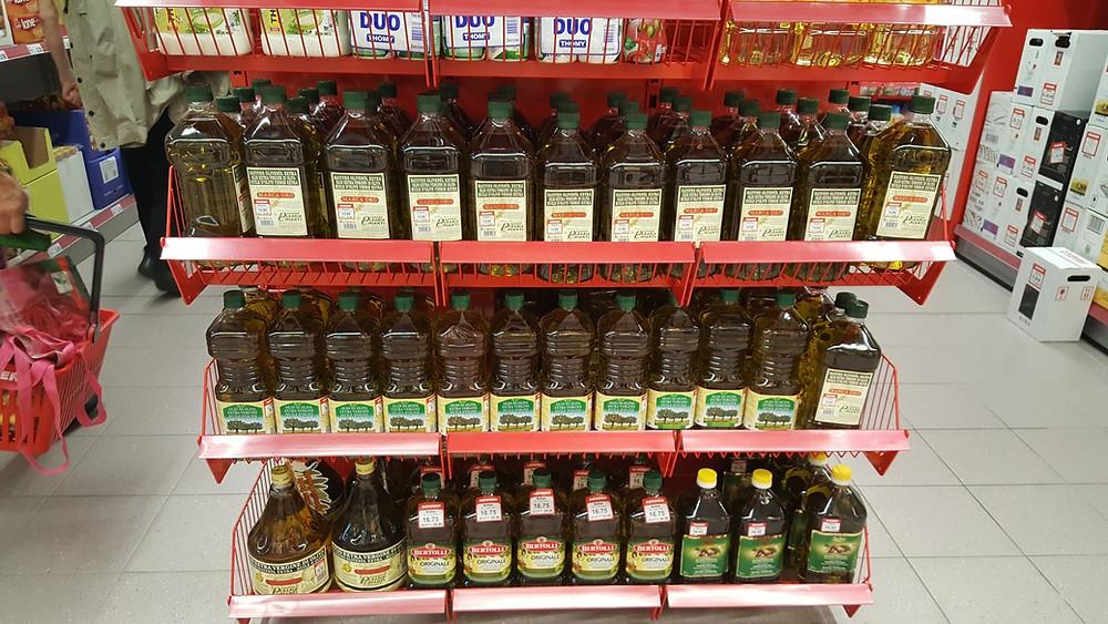 Das Olivenölangebot Denners (Momentaufnahme August 2016, evoo ag)