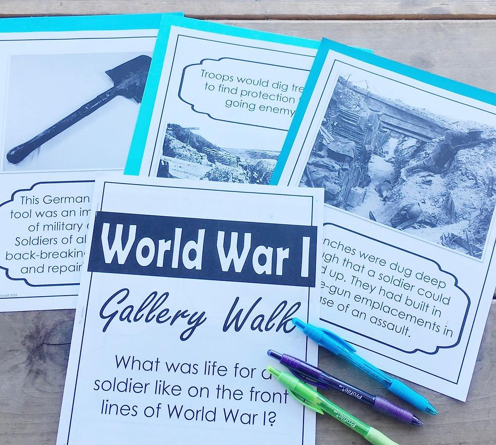 World War I Trench warfare Gallery Walk
