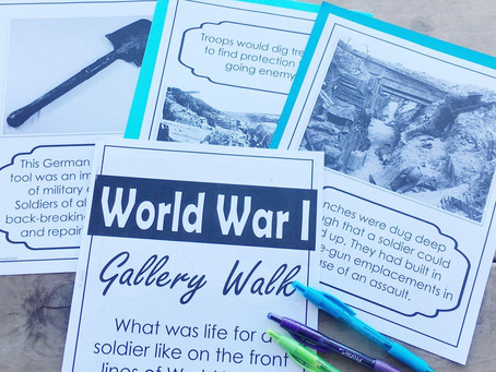 World War I Trench Warfare Gallery Walk Stations Activity