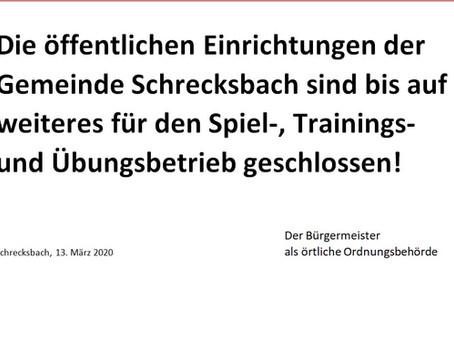 VfB stellt Trainingsbetrieb ein
