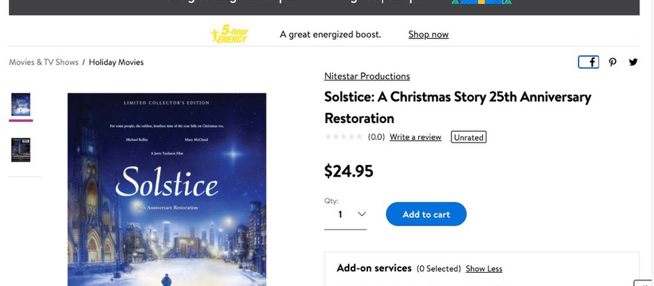 """More Awards to Share as the Holiday Season Begins and """"Solstice"""" drops on Walmart!"""