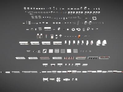 Retro Sci-fi Modular Environment Kitbash