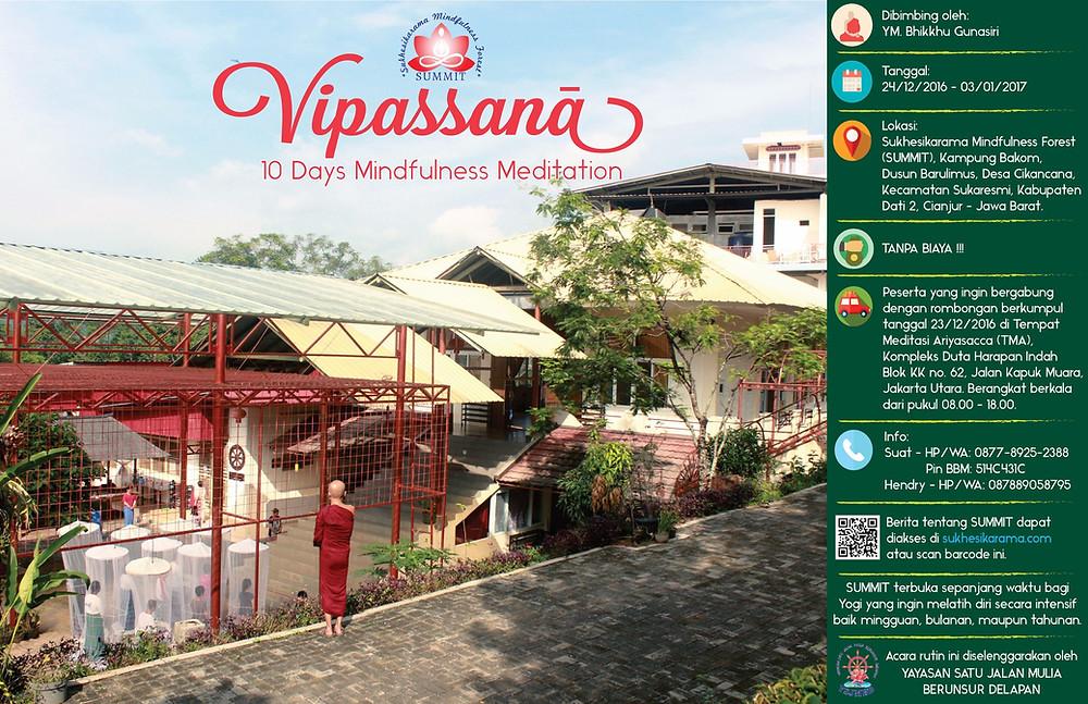 Retret Meditasi Vipassana 2016 - 10 hari