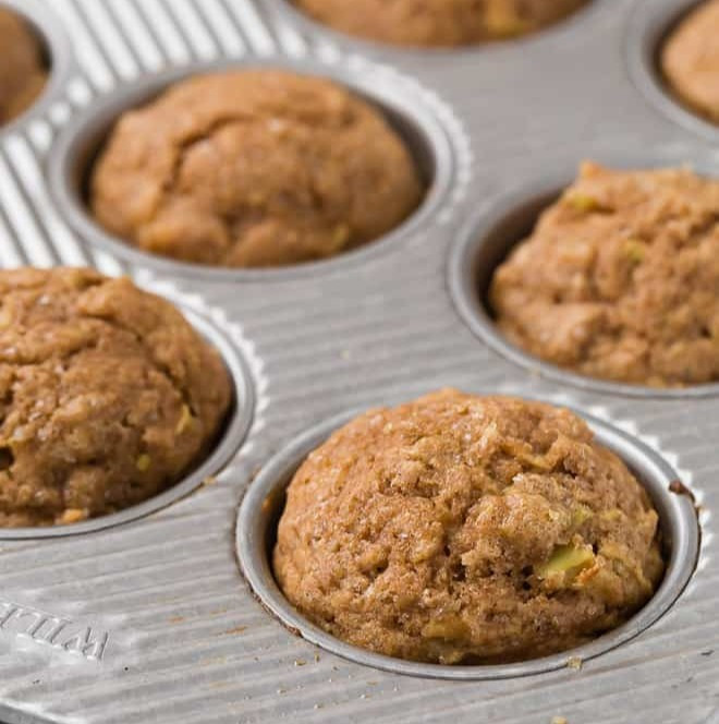 Hearty and Delicious Apple Cinnamon Muffins - Great Breakfast and Healthy Snack Alternative!