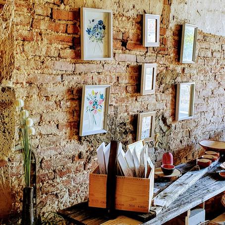 Céramiques, gravures et aquarelles