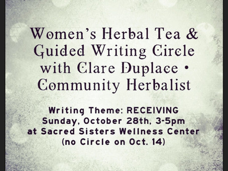 Women's Herbal Tea & Writing Circle with Clare