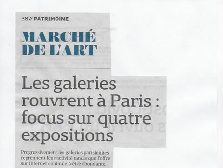 """La galerie dans """"Les Echos"""""""