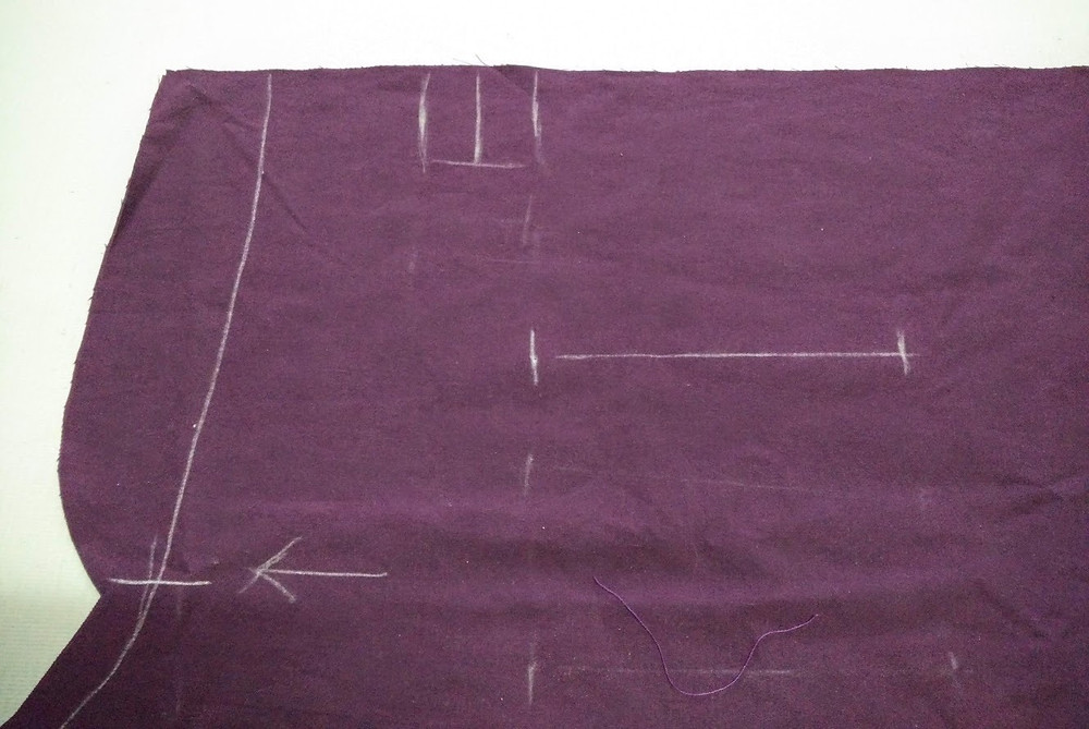 Marking pleats and pocket placement