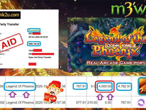 Legend Of Phoenix Fishing game tips to win RM4100 in Suncity