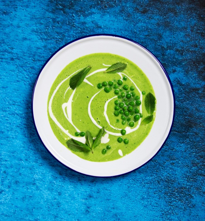 Žaliųjų žirnelių sriuba, VMG receptai