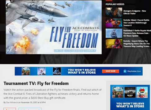 Ace Combat 6 Fly For Freedom Tournament: Analysis and Interview