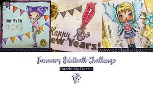 anything goes creative stamp challenge oddball art