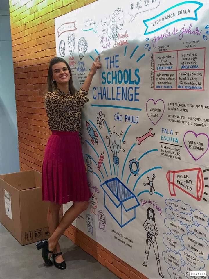 Petrina Santos no The Schools Challenge | Fonte: Acervo Pessoal