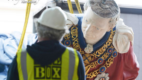 Figureheads install underway at The Box