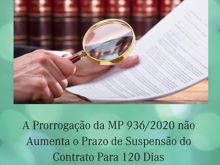 Prorrogação da MP 936/2020