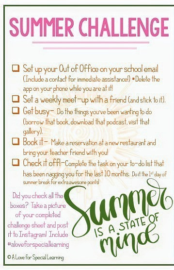 List of 5 action items to prepare for summer
