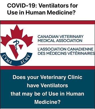 Veterinary Hospitals to Donate use of Ventilators to COVID-19 efforts
