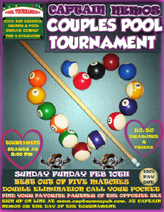 COUPLES POOL TOURNAMENT