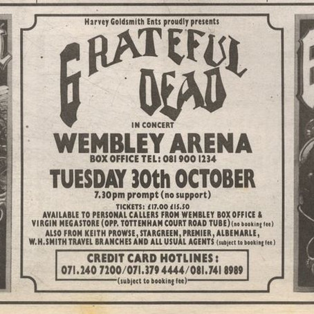 WEMBLEY 1990 PRE HALLOWEEN  Jam! 23 October