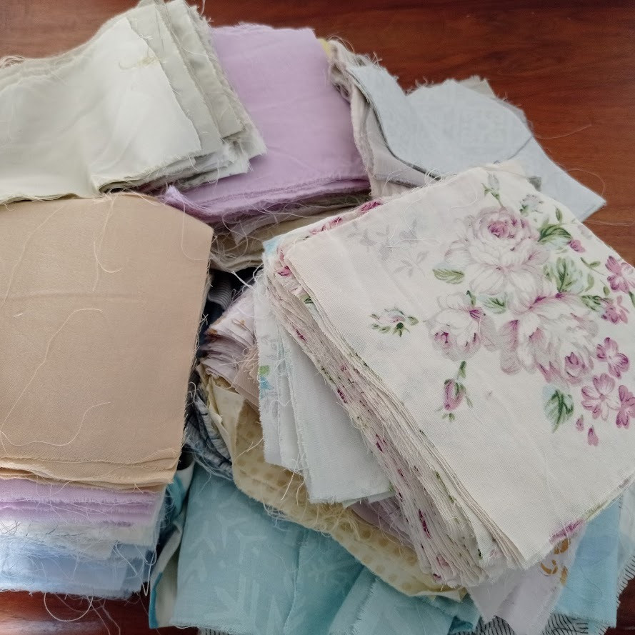 Vintage fabric squares