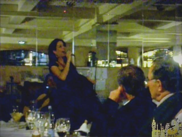 Cantante de Fado portugués. Restaurante Guarany