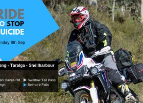 RideToStopSuicide 2019 RiderRoute