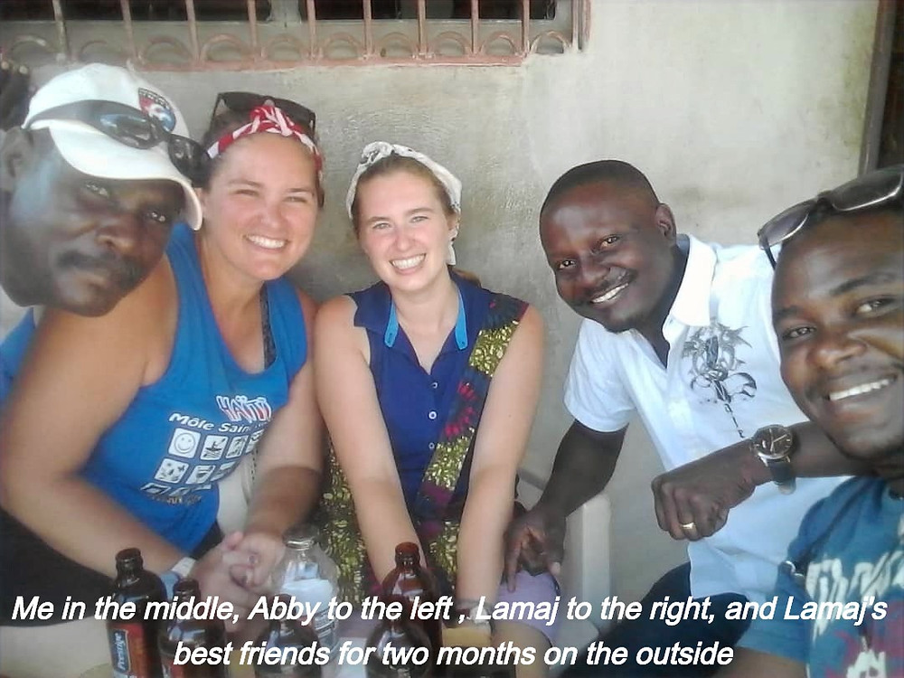 From left: one of Lamaj's friends, Abby, me, Lamaj, and another of Lamaj's friends