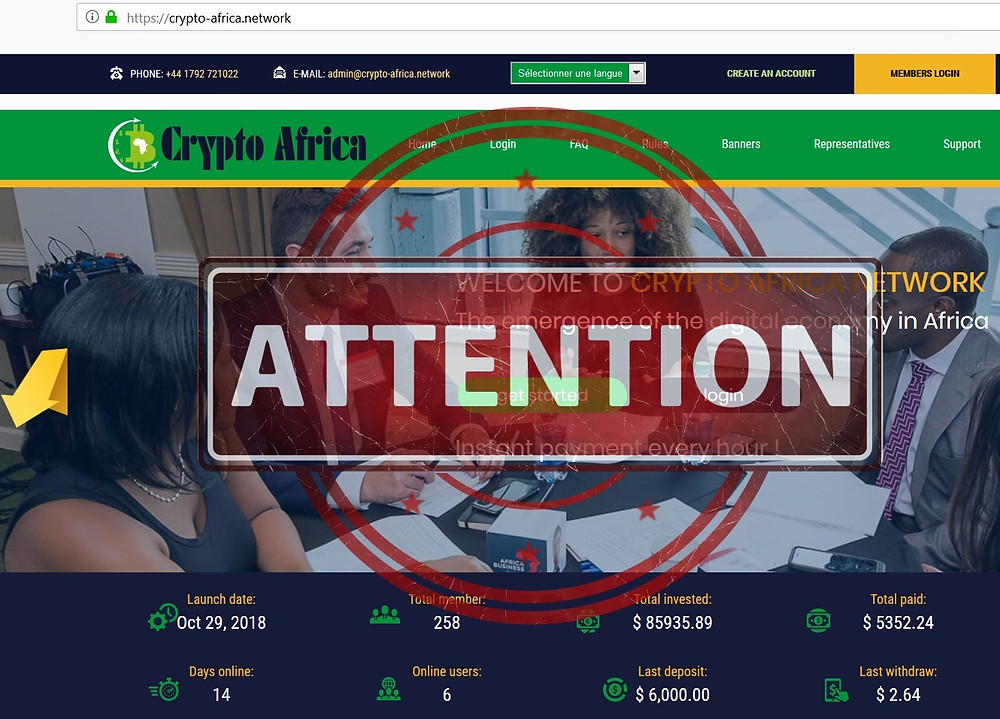 Crypto Africa Network AVIS