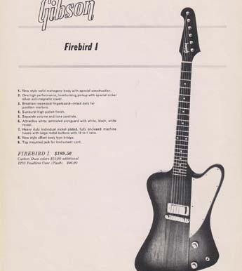 Histoire de la Firebird Gibson et Orville by Gibson