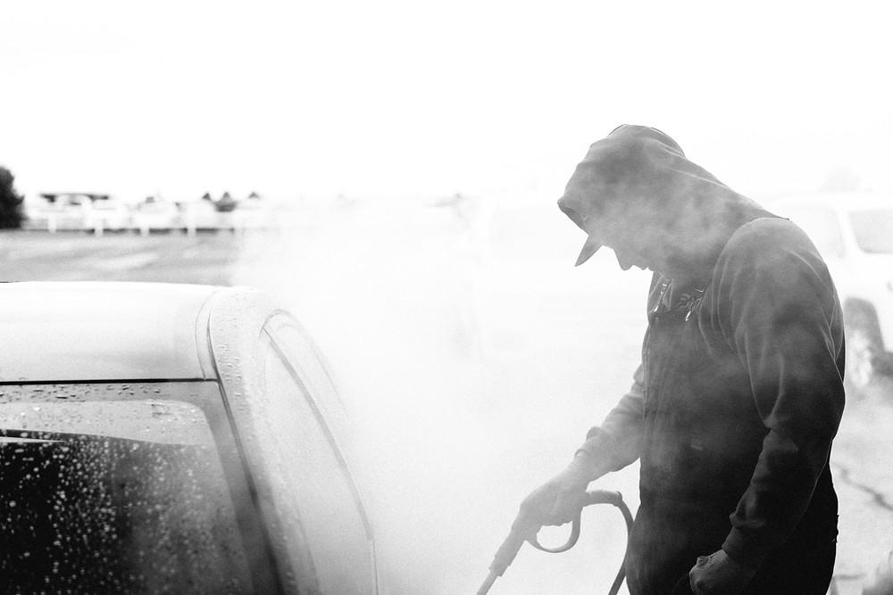 Drift employee through the steam