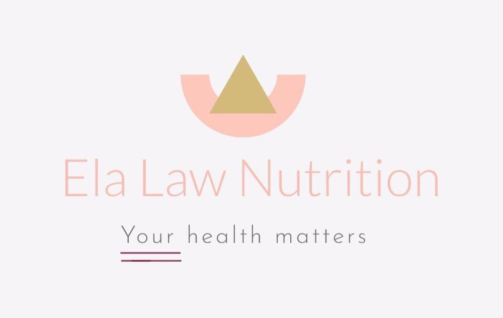 Ela Law Nutrition logo tag line