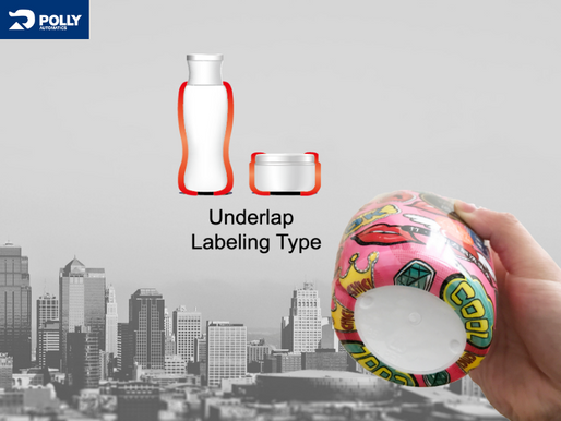 How to solve the underlap labeling  with bottom wrap design?