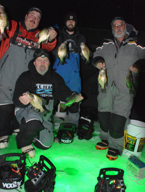 ice fishing for crappie Vermont