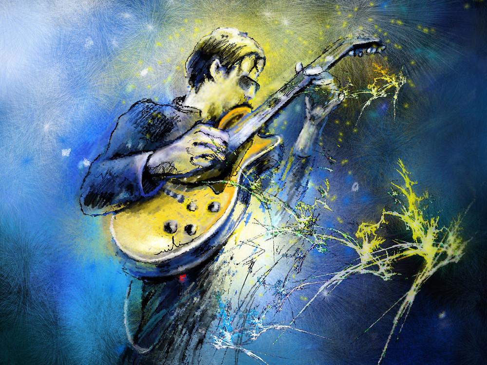 Joe Bonamassa pic promo for blues rock show on Crossfire Radio