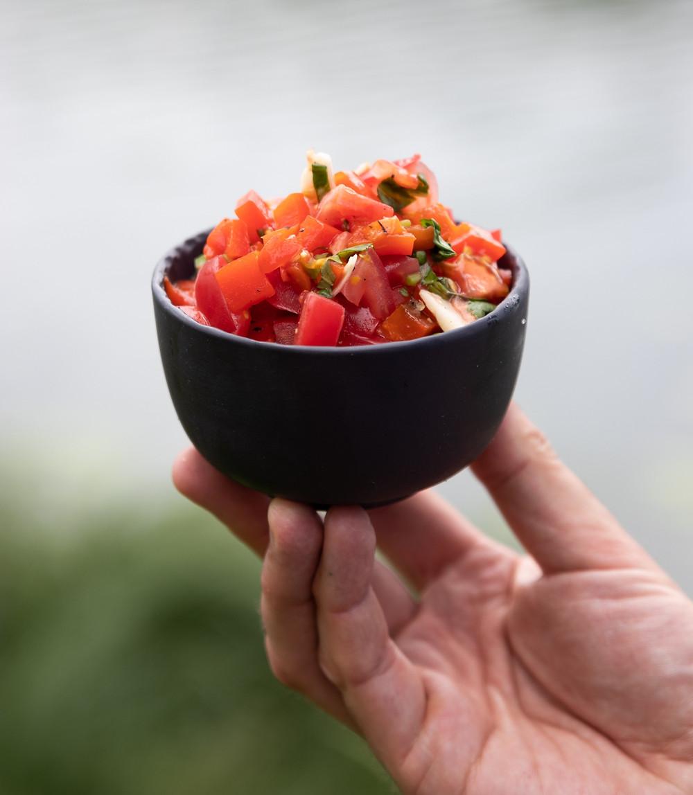 Marinuotų paprikų salotos su pomidorais, Alfo receptai
