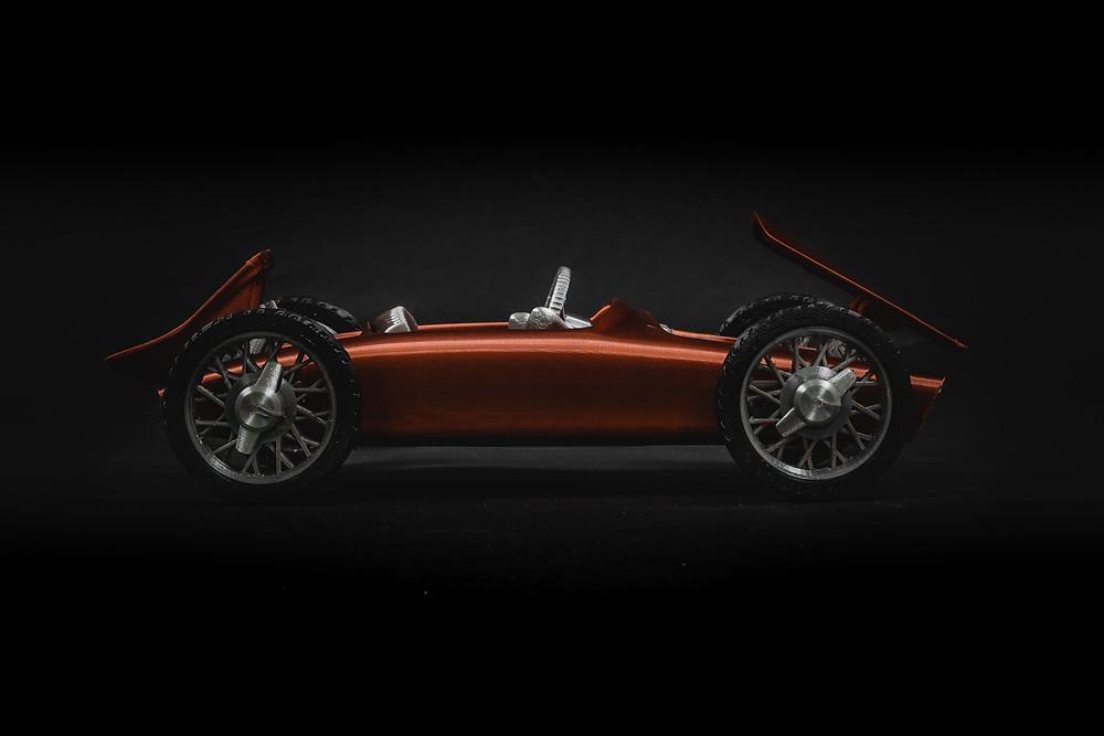 CAR-A-MEL R1 fully 3d printable toy car kit