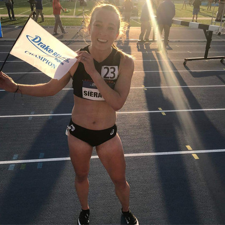 Breanna Wins Drake Relays Steeplechase;Katy 2nd at Get in Gear 10k;Heather 3rd at Drake Relays 1500