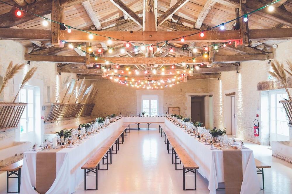 Hochzeitssaal nachhaltig dekoriert