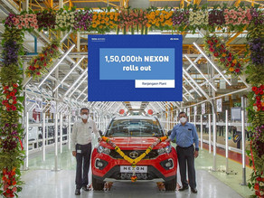 Tata Motors rolls out the 1,50,000th Nexon