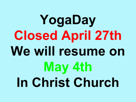 April 27th Closed