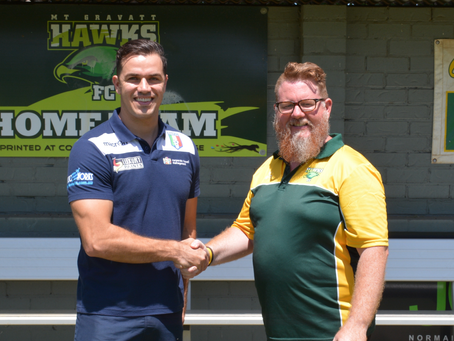 Hawks and City Sign Historic Partnerhip