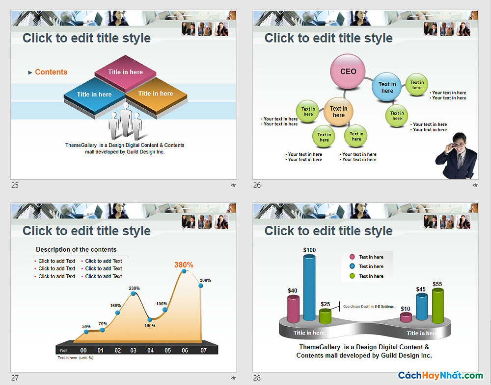 PowerPoint Template 571TGp_business_light_ani Free