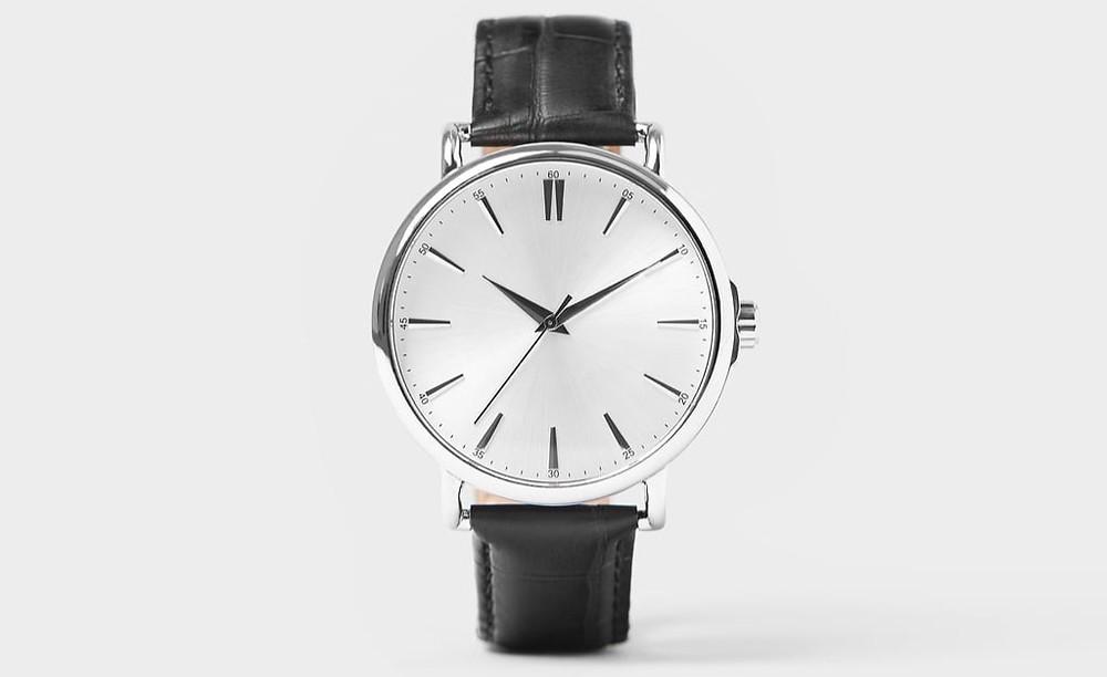 Vintage Look Black Leather Wristwatch @ Zara For $69.90