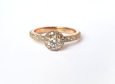 Saderināšanās gredzeni – halo jeb mirdzošais aplis