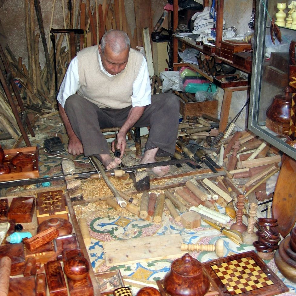 Carpentry and wood carving in morocco