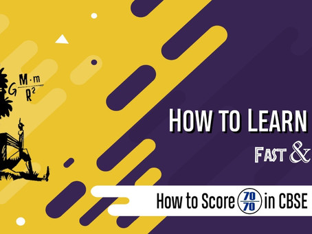 How to score 70/70 in C.B.S.E. Physics examinations.