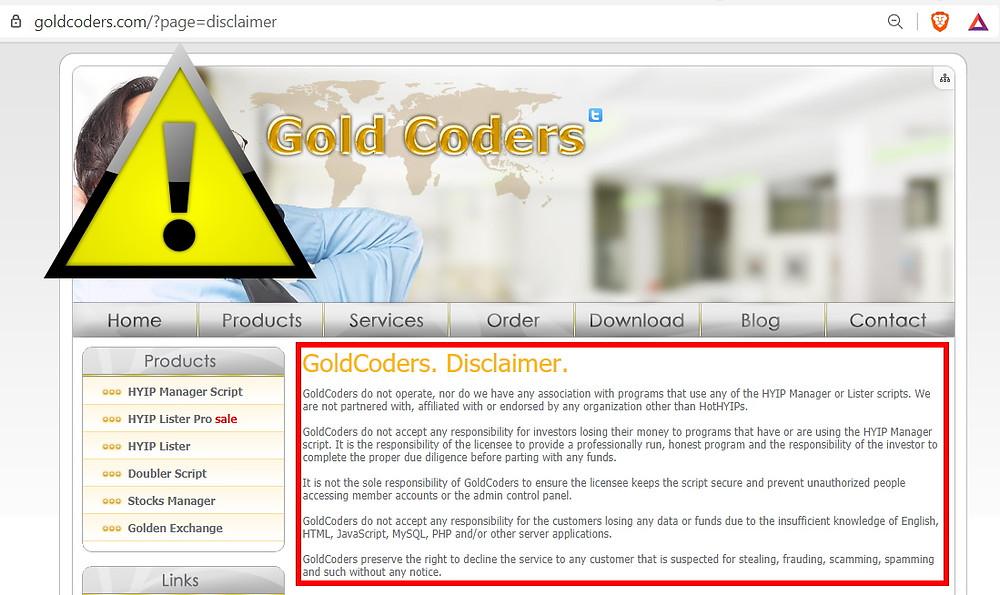 GoldCoders escroquerie