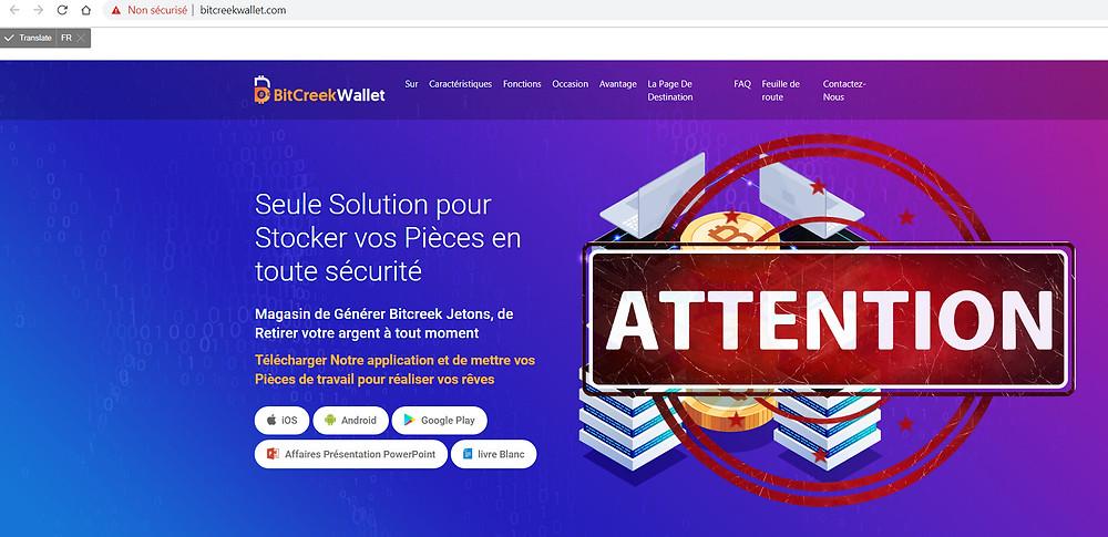 BitCreek Wallet AVIS