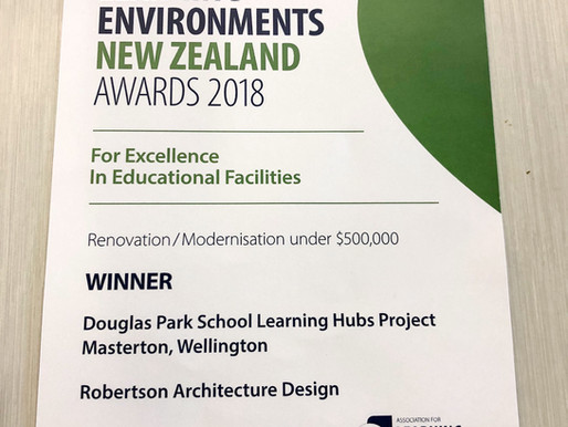 Douglas Park School  recognised at  Learning Environment NZ Awards